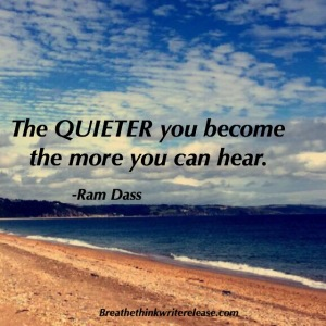 the quieter you become the more you can heat