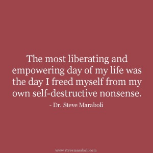 Free yourself for your own destructive behaviours