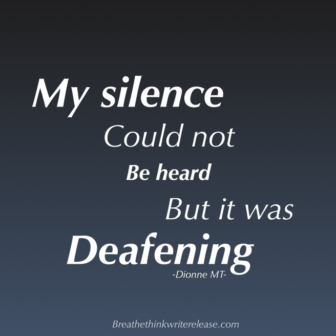 Deafening silence. Still I could not be heard
